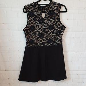 JANETTE PLUS LACE BLACK DRESS SIZE 1X